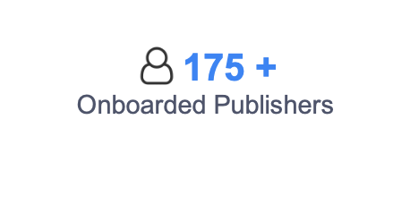 175+ Onboarded Publishers